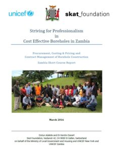 Book Cover: Striving for Professionalism in Cost Effective Boreholes in Zambia