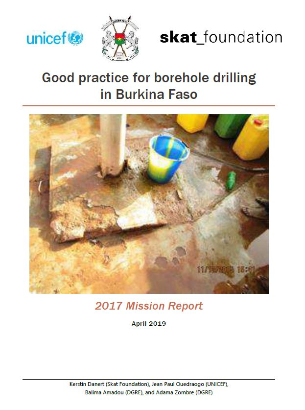 Book Cover: Good practice for borehole drilling in Burkina Faso