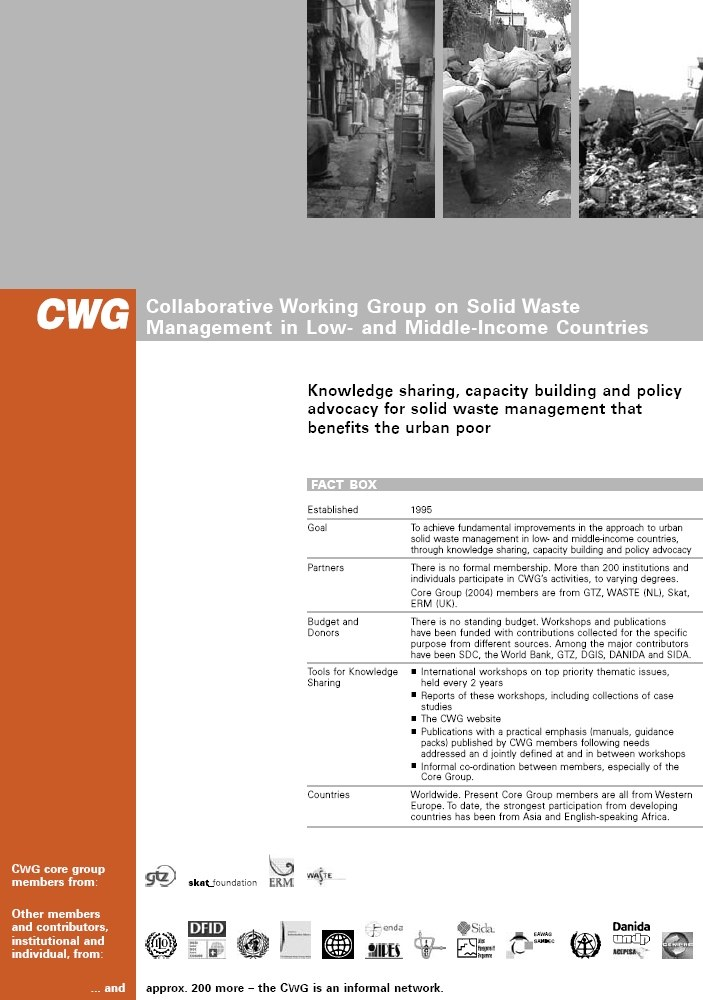 Book Cover: CWG - Collaborative Working Group on Solid Waste Management in Low- and Middle-Income Countries