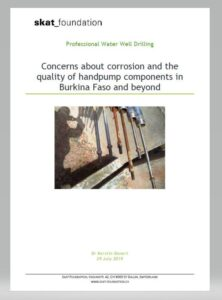 Book Cover: Concerns about corrosion and the quality of handpump components  in Burkina Faso and beyond