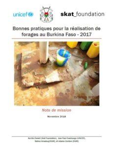 Book Cover: Bonnes pratiques pour la réalisation de forages au Burkina Faso - 2017