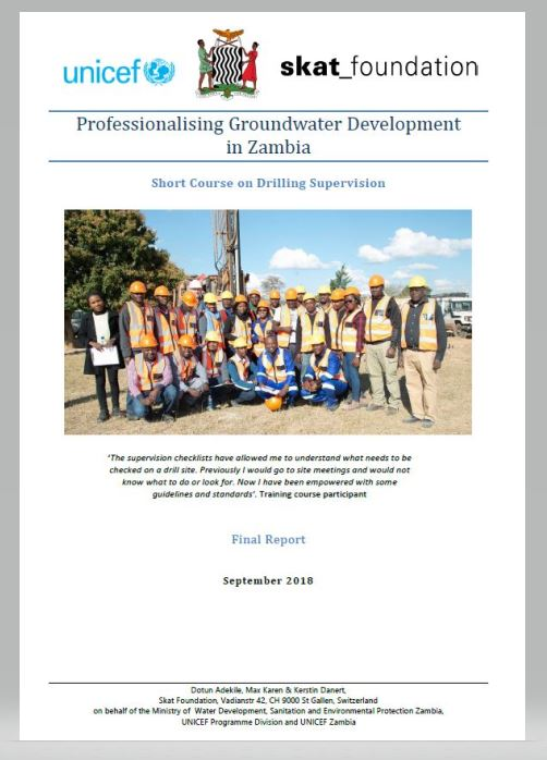 Book Cover: Professionalising Groundwater Development in Zambia