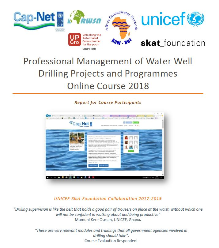 Book Cover: Professional Management of Water Well Drilling Projects and Programmes