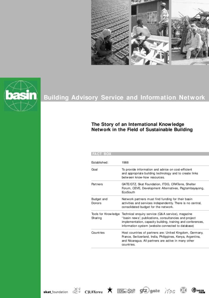 Book Cover: basin - Building Advisory Service and Information Network