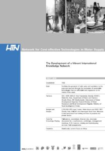 Book Cover: HTN - Network for Cost-effective Technologies in Water Supply