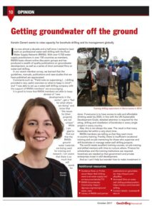 Book Cover: Getting groundwater off the ground